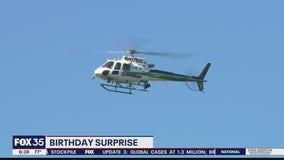 Boy gets birthday surprise