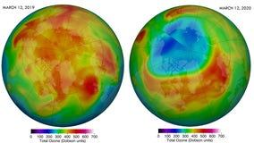 Record-breaking Arctic ozone hole closed itself up, and it may have nothing to do with lockdowns