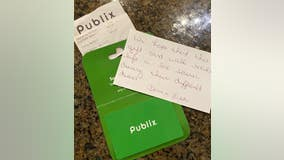 Stranger gives frontline worker $500 gift card in aisle at Publix