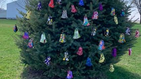 Iowa woman sets up 'giving tree' of face masks for people to use during coronavirus pandemic