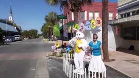 Easter Bunny drive-up outside Leesburg restaurant brings holiday cheer