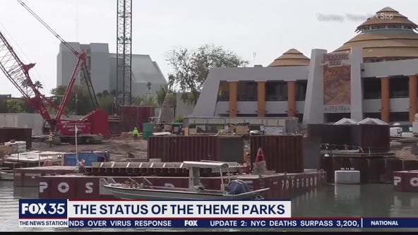 Status of Orlando theme parks during COVID-19 lockdown