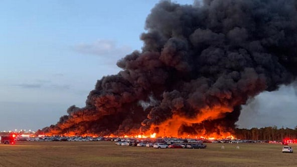 Fire near southwest Florida airport burns 3,500 rental cars