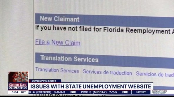 Issues with state unemployment website
