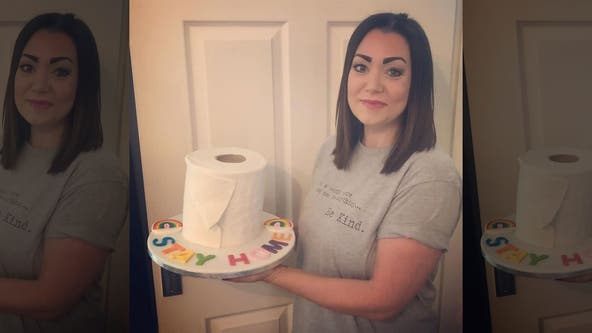 Mom raises money for local hospital by baking toilet paper roll cake: 'I just can't believe how crazy it all went'