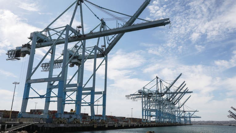 Shipping Traffic Slows Down At Southern California Ports Due To Worldwide Coronavirus Outbreak