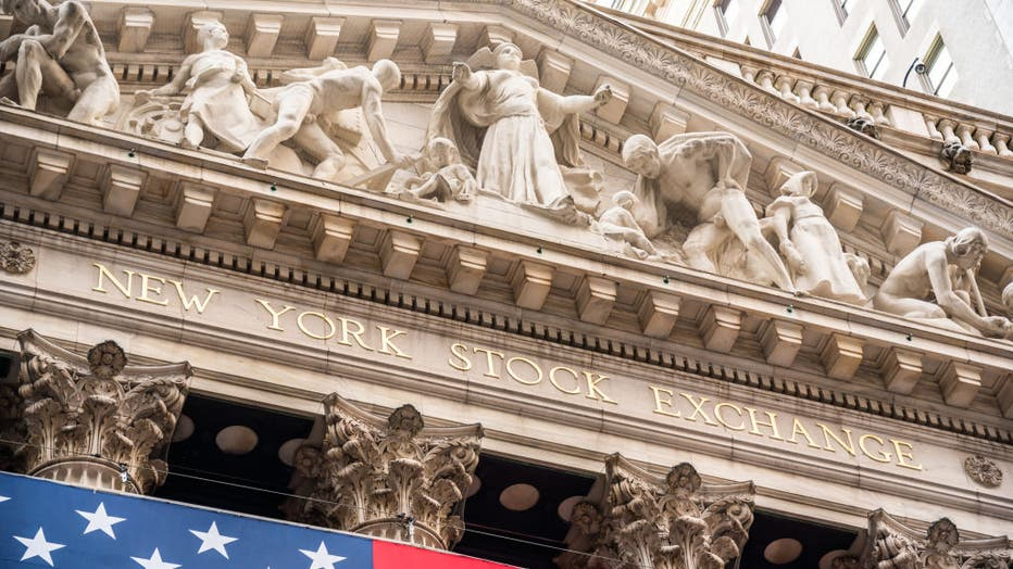 A view of the New York Stock Exchange, or NYSE, which is the