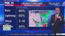 Forecast ahead of Wednesday's manned launch by SpaceX