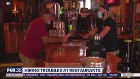 Some restaurants having trouble hiring