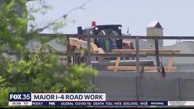 Major roadwork underway along Interstate 4 in Orlando