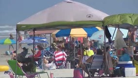Summer-like weather bringing large crowds to Volusia County beaches