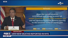 Schools across NY to stay closed for rest of academic year