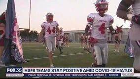 High school football teams stay positive amid COVID-19 hiatus