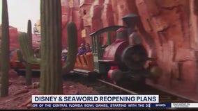Disney, SeaWorld announce reopening plans