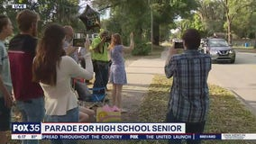 Parade held for high school senior who has overcome adversity