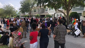 Protesters speak outside Windermere home of fired Minneapolis officer charged in George Floyd's death