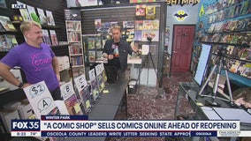 Comic shop in Winter Park makes sales online ahead of reopening
