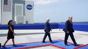President Trump, Vice President Pence view historic launch