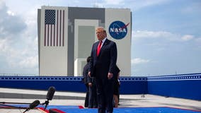 Historic NASA launch provides Trump moment to relish during difficult week