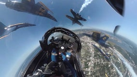 Ride in the cockpit of a Blue Angels jet during Florida salute to frontline workers