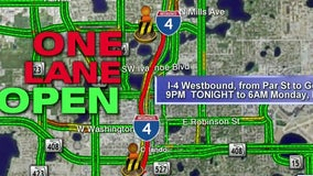 I-4 in downtown Orlando to close 5 days for construction starting Wednesday night