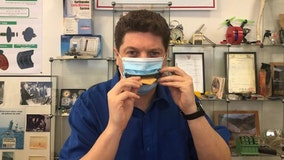 Company creates face mask that allows wearer to eat
