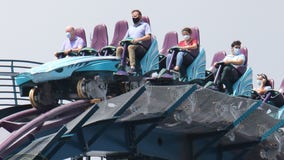 SeaWorld Orlando remains shut down but begins testing rollercoasters with riders wearing masks