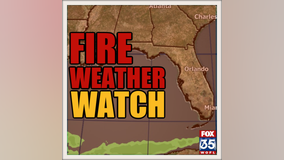 Critical fire weather conditions developing across East Central Florida