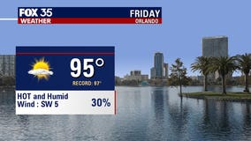 Heating up: Central Florida to hit the mid-90s by Friday
