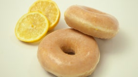 Krispy Kreme selling lemon-glazed doughnuts for a limited time