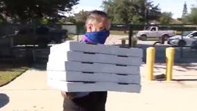 Local pizza shop donates pies to frontline workers