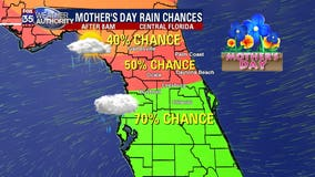 Widespread rain targeting Central Florida by Mother's Day