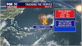 NHC: 50% chance of system in mid-Atlantic becoming a storm