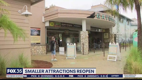 Smaller attractions reopen over holiday weekend