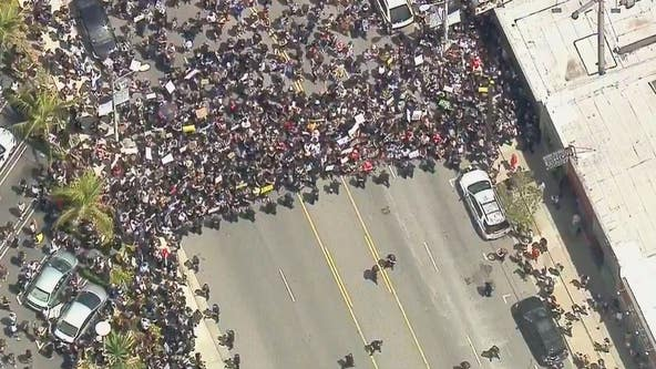 Curfew issued for downtown LA as Mayor Garcetti urges protesters to stop the violence