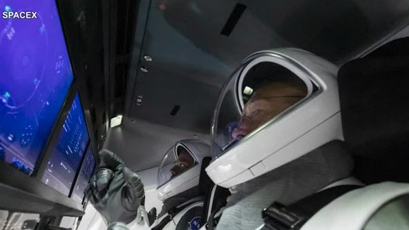 Astronauts take part in dress rehearsal prior to upcoming manned mission aboard SpaceX's Crew Dragon