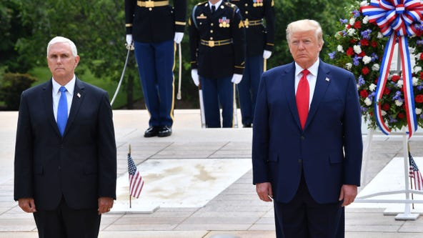 Trump honors fallen soldiers during Memorial Day events in Maryland and Virginia