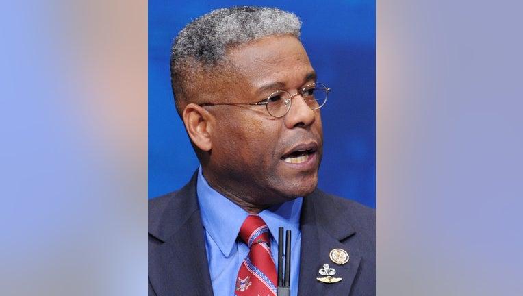 Rep. Allen West , R-FL, speaks during an