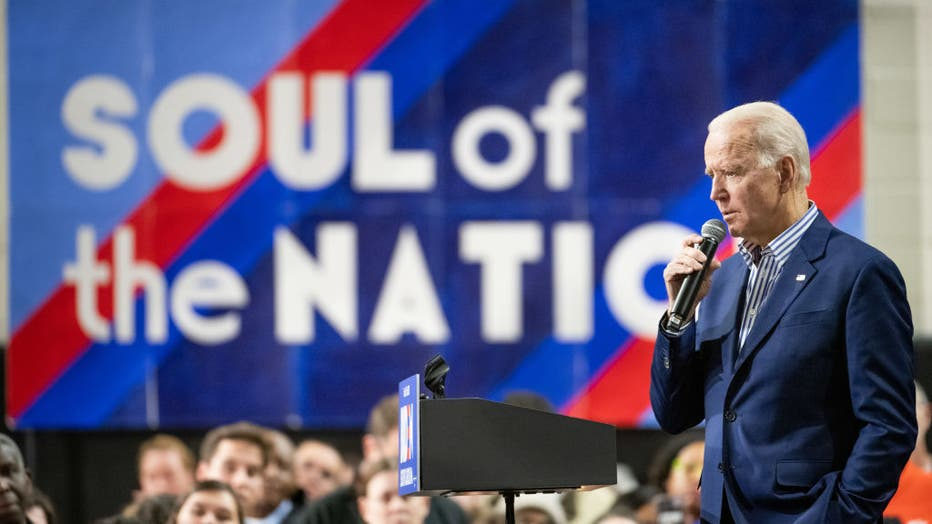 f61a3b61-Presidential Candidate Joe Biden Campaigns Ahead Of Primary In South Carolina
