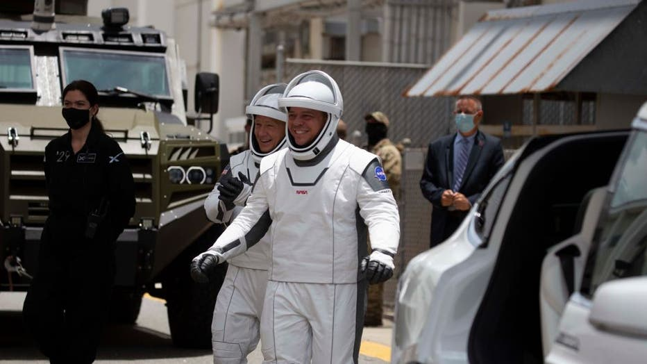 - GettyImages 1215625833 - Kennedy Space Center Visitor Complex to display suits of SpaceX's first NASA astronauts