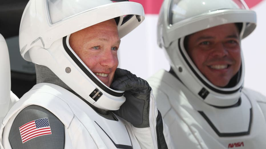 - GettyImages 1235558532 - Kennedy Space Center Visitor Complex to display suits of SpaceX's first NASA astronauts