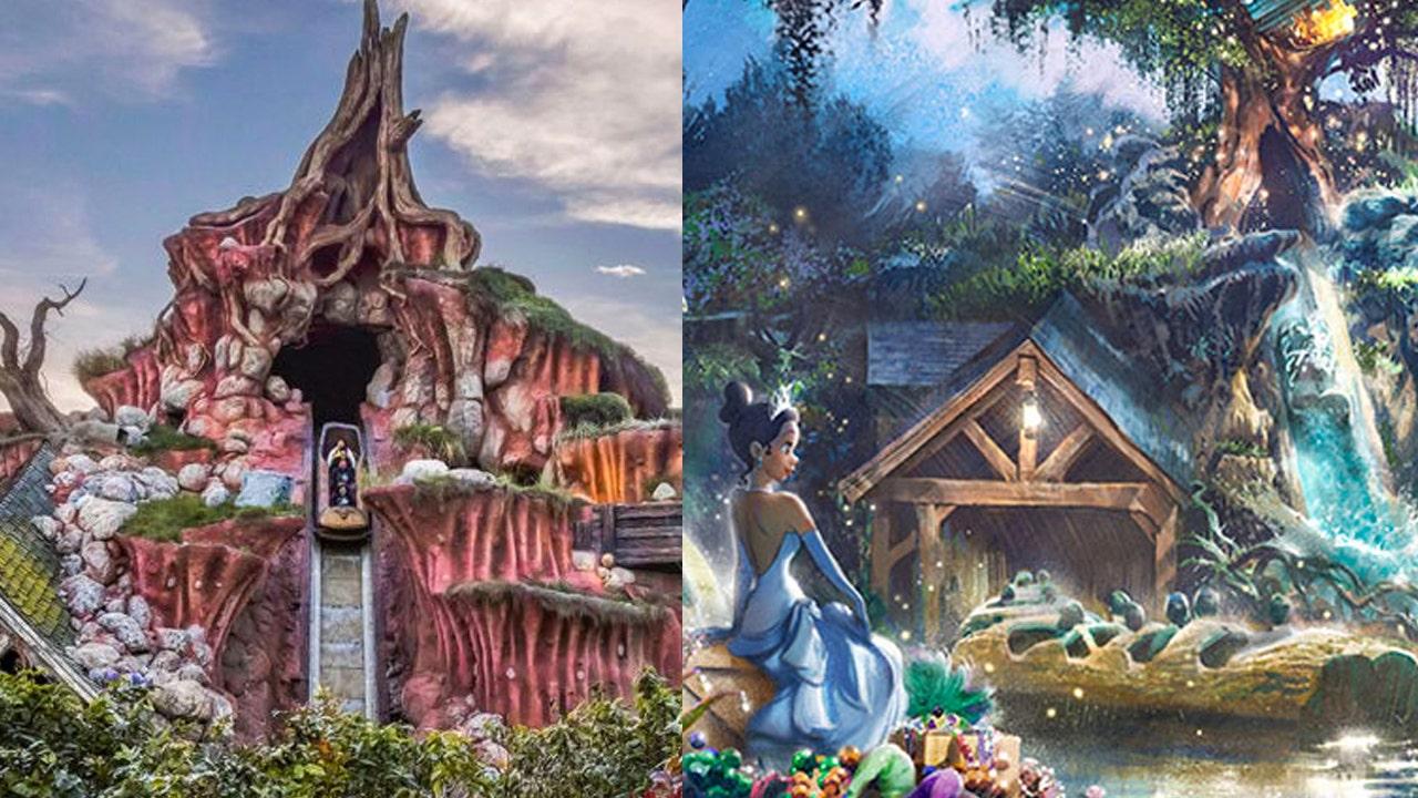 Splash Mountain Ride At Walt Disney World Disneyland To Be Re Themed
