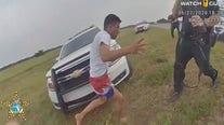 Suspect caught on body camera rushing at deputies
