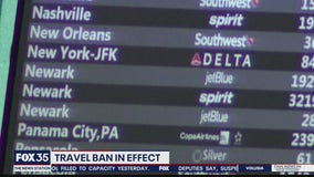 Travel ban in effect