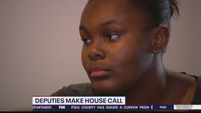 Deputies make house call to ease child's fears over protests