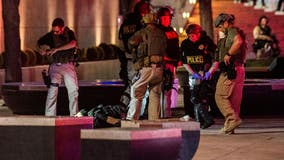 Las Vegas officer shot in the head outside casino is on life support, sheriff says
