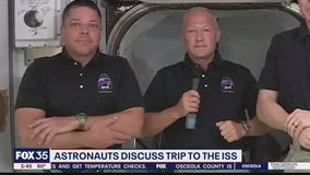 Astronauts discuss trip to ISS