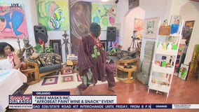 David Does It: Afrobeat Paint Wine and Snack Event