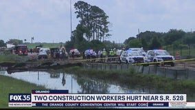 Two construction workers hurt near State Road 528
