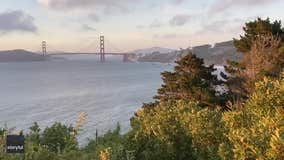 Golden Gate Bridge heard 'singing' over San Francisco Bay